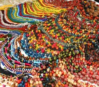 Colorful Necklaces in Otavalo Market